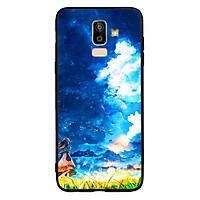 Ốp lưng viền TPU cho Samsung galaxy J8 - Little Girl