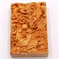 Mặt gỗ hoàng đàn khắc hình Long Phụng MG58