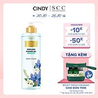 Sữa tắm nước hoa dưỡng ẩm sáng da Cindy Bloom Fresh Ocean mùi hương năng động trẻ trung 640g