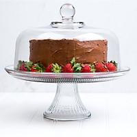 Kệ bày bánh thủy tinh có nắp đường kính 30.5cm, dung tích 3.5L, thương hiệu Anchor Hocking - sản xuất tại Mỹ