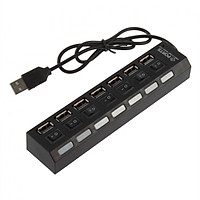 Bộ Chia HUB USB 7 Cổng Công Tắc - Tặng Lót Di Chuột