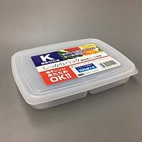 Hộp nhựa bảo quản thực phẩm đa năng và tiện lợi có chia 4 ngăn Nakaya - Hàng nội địa Nhật Bản.