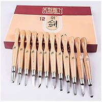 Bộ 12 dao đục khắc gỗ mỹ nghệ