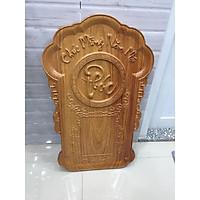 Lịch tết vạn niên, gỗ tò te nguyên tấm, kích thước ngang 41cm x rộng 67cm, dày 3 phân
