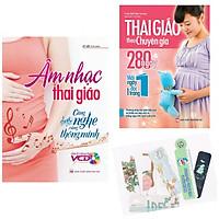 Combo Âm Nhạc Thai Giáo - Càng Nghe Càng Thông Minh + Thai Giáo Theo Chuyên Gia 280 Ngày + Tặng Kèm Bookmark AHA