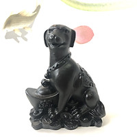 Tượng đá trang trí chó giữ tài lộc phong thủy - Màu đen