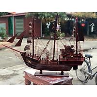 Thuyền mô hình phong thủy mang lại may mắn chất liệu gỗ Cẩm Ta cực đẹp ( Dài 60cm)