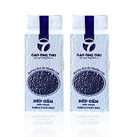 Combo 2 sản phẩm Gạo Ông Thọ - Nếp Cẩm cao cấp túi 1kg hút chân không. Sản phẩm gạo sạch hữu cơ dinh dưỡng cho sức khỏe
