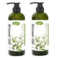 Combo 2 chai - Sữa tắm thảo dược Organic tẩy sạch nhờn dưỡng ẩm chống lão hóa da Jie Fen Herbal Extract Intensive Shower Gel, Taiwan 720 ml #Green Tea