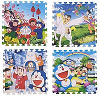 Bộ 4 tấm Thảm xốp lót sàn an toàn Thoại Tân Thành hình Doreamon (60x60cm)