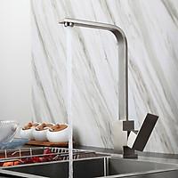 Vòi nước rửa chén bát nóng lạnh inox 304 thân vuông KAMA RC12 - tặng kèm bộ dây cấp nước inox 304 60cm -  HÀNG CHÍNH HÃNG