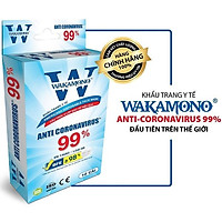 [Combo 10 hộp] Khẩu trang  WAKAMONO 1 hộp 10 cái - Được Mỹ & Châu Âu kiểm nghiệm và chứng nhận
