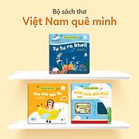 Sách Thơ Cho Bé - Set 3 Cuốn Gia Đình Bé Bỏng Đi Du Lịch (Bộ Việt Nam Quê Mình) - Truyện Tranh Cho Trẻ Tập Nói, Mầm Non 0-1-2-3-4-5-6 Tuổi
