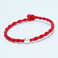 Vòng tay sợi chỉ đỏ mix Bi bạc 925 may mắn Minh Thoa Jewelry dây lụa xoắn, xinh xắn