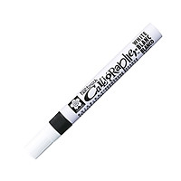 Bút Thư Pháp Sakura Pentouch Calligrapher Med 5.0mm - Màu Trắng
