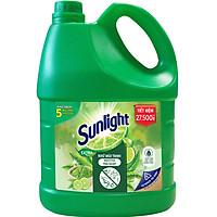 Nước Rửa Chén Bát Sunlight Trà Xanh Nhật Bản Khử Sạch 5 Mùi Tanh Khó Chịu Bấm Trên Chén Dĩa 3.6kg