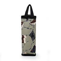 Túi giữ nhiệt bình nước họa tiết lá cờ hoa