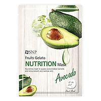 Combo 5 Mặt Nạ Dưỡng Da Tinh Chất Bơ Giàu Dưỡng Chất SNP Fruits Gelato Nutrition Mask