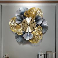 Đồng hồ treo tường lá Ginkgo - Đồng hồ treo tường cao cấp - Đồng hồ phòng khách đẹp - Đồng hồ trang trí treo tường