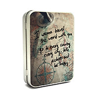 Hộp thiếc Vintage Box - I wanna travel