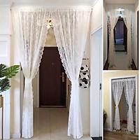 Rèm cửa vải voan xốp hoạ tiết hoa sang trọng