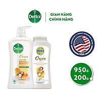 Sữa tắm Dettol Onzen mật ong kháng khuẩn và dưỡng thể 950G tặng sữa tắm 200G