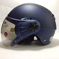 Mũ Bảo Hiểm GRS A102K Cao Cấp Kính Momo Xanh Phối Đen