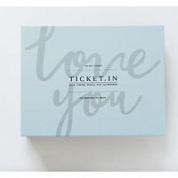 Album ảnh Ticket.In lưu giữ vé và ảnh 9x9,5cm họa tiết Love you 40 ảnh