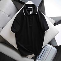 Áo Thun Polo Nữ Trơn Phông Basic Tay Ngắn Cổ Bẻ Cotton Trẻ trung đơn giản 6 Màu Trắng Đen Cam Vàng - Hanlly Fashion A21 - ĐEN - M (40kg -45kg)