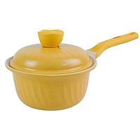 Quánh Ceramic 7 Lớp Kháng Khuẩn Happy Home Pro Arisu - 18cm ( Vàng)