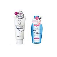 Combo 2 sản phẩm Nước tẩy trang SENKA A.L.L. CLEAR WATER Micellar Formula White 230ml và Sữa Rửa Mặt Tạo Bọt Chiết Xuất Đất Sét Trắng Senka Perfect White Clay New