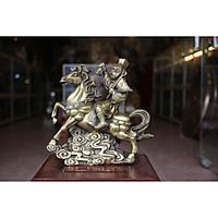 Tượng Tôn Khộ Không cưỡi Ngựa Cao 30cm (  Tượng Mã Thượng phong hầu khỉ cưỡi ngữa)