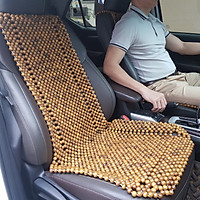 Đệm lót ghế ô tô hạt gỗ Bách Xanh 100% tự nhiên tựa lưng massage trên ô tô - Dạng Cài Đàn - Kích thước: 1,20x 0,48m - Trọng lượng: 3Kg - Mã: BX-D