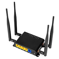 4G LTE Wireless Router 300Mbps High Speed Industrial Router with SIM Card Slot 4 External Antennas Strong Signal America
