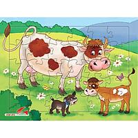 Xếp hình Tia Sáng Bò mẹ và bò con  (30 Mảnh Ghép) - Tặng kèm tranh tô màu cho bé