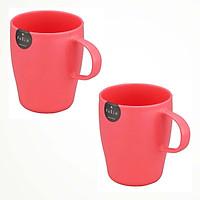 Bộ 2 Cốc uống nước cao cấp có tay cầm màu hồng - Hàng Nội Địa Nhật