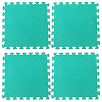 Bộ 4 tấm Thảm xốp lót sàn an toàn Thoại Tân Thành - màu xanh ngọc (50x50cm)