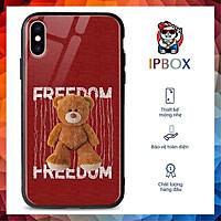 Ốp Lưng In Hình Bear IPBOX Cho Iphone 12/Mini/Pro/Max/11/Pro/Max/Xs/Max/Xr/X/7/8/Plus