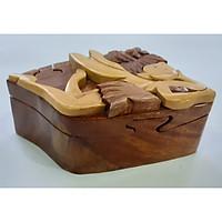 Hộp đựng trang sức-Hộp gỗ mini con giống chốt trong hộp lót nhung-Giao mẫu Ngẫu nhiên