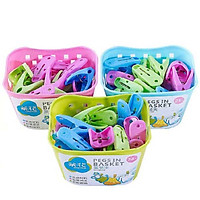 [Jingdong Supermarket] Camellia racks basket clothes laundry clip 24 loaded 28541k