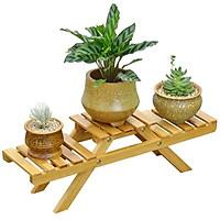 Kệ để chậu hoa kệ trồng cây cảnh đối xứng gỗ thông trang trí để trong nhà ngoài trời sân vườn ban công phong cách Bắc Âu
