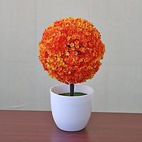 Cây hoa tú cầu giả để bàn trang trí nội thất cao cấp Liza-86