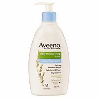 Aveeno Active Naturals Daily Moisturising Sheer Hydration Fragrance Free Lotion 350mL