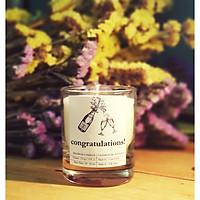 Nến chúc mừng - nến sáp ong hương champagne - quà tặng chúc mừng