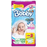 Miếng Lót Sơ Sinh Bobby Fresh Newborn 1 - 108 (108 Miếng) + 3 Miếng Tã Dán Sơ Sinh