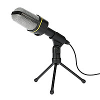 Desktop Microphone with Tripod Professional Podcast Studio Microphone For Laptop/PC (3.5mm Jack/2.1M-Cable) For
