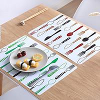 Bộ tấm lót bàn ăn hình muỗng nĩa xinh xắn ( 4 cái)