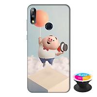 Ốp lưng điện thoại Asus Zenfone Max Pro M2 hình Heo Con Bay Bổng tặng kèm giá đỡ điện thoại iCase xinh xắn - Hàng chính hãng