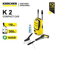 Combo Máy phun rửa áp lực cao Karcher K 2 Compact và dây cấp nước 1.5m