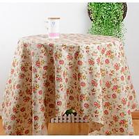 Khăn trải bàn vải bố - Họa tiết Hoa hồng nhí - mẫu G04